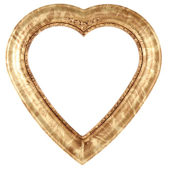 Boston Heart Frame #457 - Champagne Gold