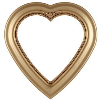 Boston Heart Frame #457 - Gold Spray