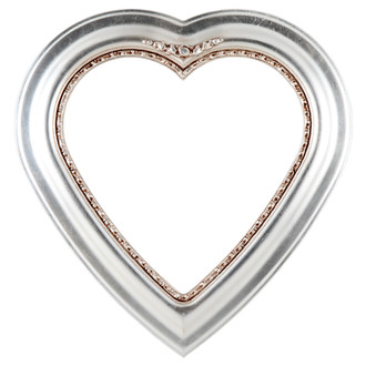 Boston Heart Frame #457 - Silver Leaf with Brown Antique