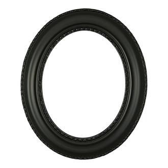 Somerset Oval Frame # 452 - Matte Black
