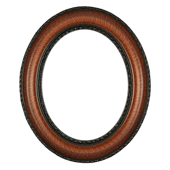 Somerset Oval Frame # 452 - Vintage Walnut