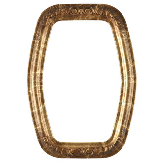 Florence Hexagon Frame #461 - Champagne Gold