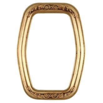 Florence Hexagon Frame #461 - Gold Leaf