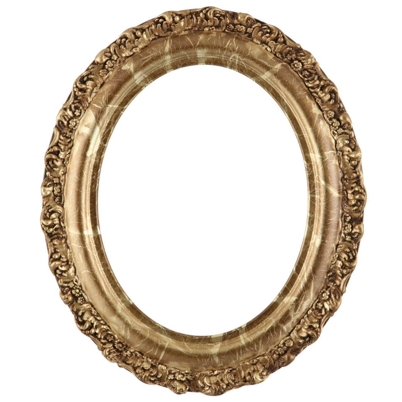 Oval Frame In Champagne Gold Finish Gold Leaf Picture Frames With