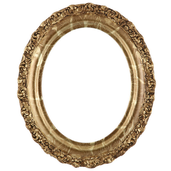 Venice Oval Frame # 454 - Champagne Gold