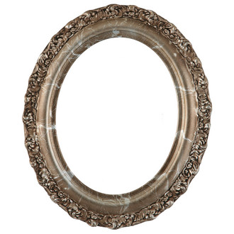 Venice Oval Frame # 454 - Champagne Silver