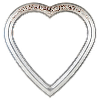 Florence Heart Frame #461 - Silver Leaf with Brown Antique