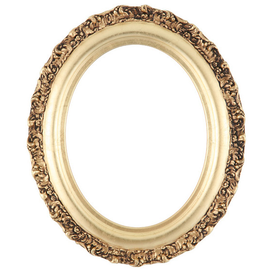 Oval Frame In Gold Leaf Finish Gold Wooden Picture Frames