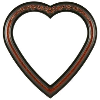 Florence Heart Frame #461 - Vintage Walnut