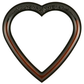 Florence Heart Frame #461 - Walnut