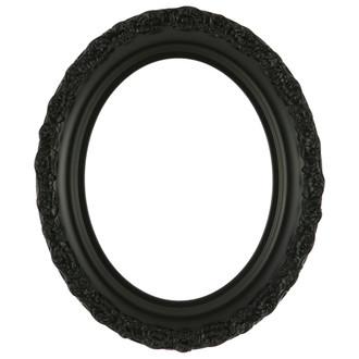 Venice Oval Frame # 454 - Matte Black