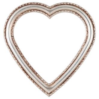 Dorset Heart Frame #462 - Silver Leaf with Brown Antique