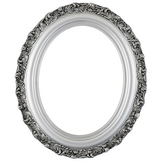Venice Oval Frame # 454 - Silver Spray