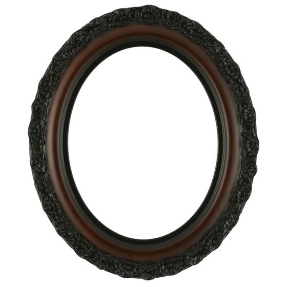 Venice Oval Frame # 454 - Walnut