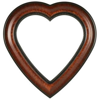 Heritage Heart Frame #458 - Vintage Walnut