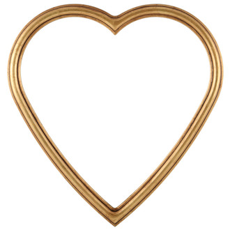 Saratoga Heart Frame #550 - Gold Leaf
