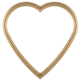 Saratoga Heart Frame #550 - Gold Spray