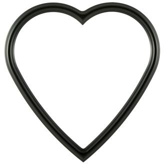 Saratoga Heart Frame #550 - Matte Black