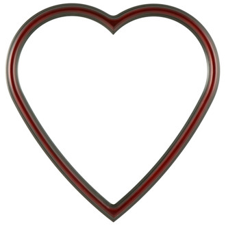 Saratoga Heart Frame #550 - Rosewood