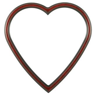 Saratoga Heart Frame #550 - Vintage Cherry