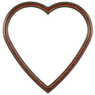 Saratoga Heart Frame #550 - Vintage Walnut