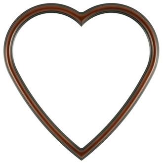 Saratoga Heart Frame #550 - Walnut