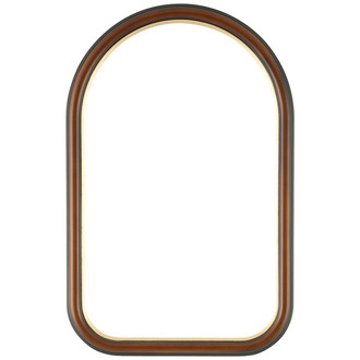 Hamilton Cathedral Frame #551 - Walnut with Gold Lip