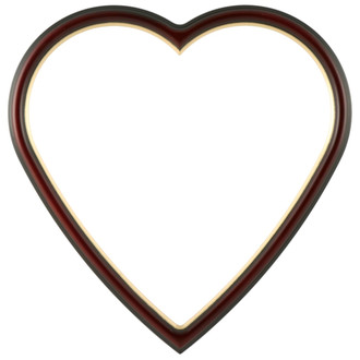 Hamilton Heart Frame #551 - Rosewood with Gold Lip