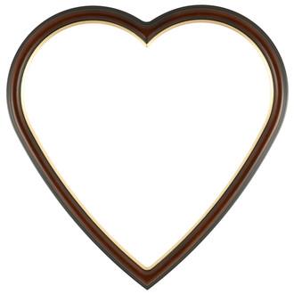 Hamilton Heart Frame #551 - Walnut with Gold Lip