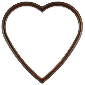 Hamilton Heart Frame #551 - Walnut with Silver Lip