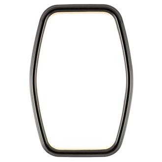 Hamilton Hexagon Frame #551 - Gloss Black with Gold Lip