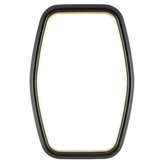 Hamilton Hexagon Frame #551 - Matte Black with Gold Lip
