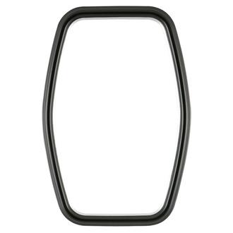 Hamilton Hexagon Frame #551 - Matte Black with Silver Lip