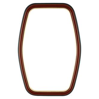 Hamilton Hexagon Frame #551 - Rosewood with Gold Lip