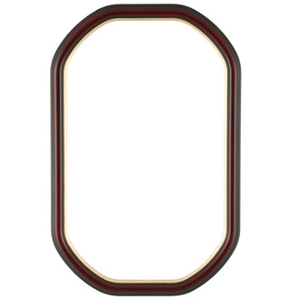 Hamilton Octagon Frame #551 - Rosewood with Gold Lip