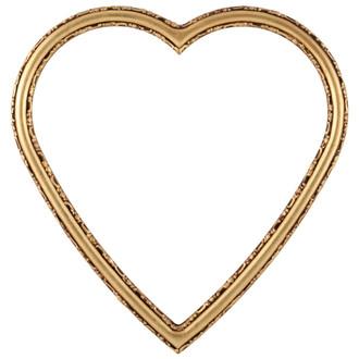 Virginia Heart Frame #553 - Gold Leaf