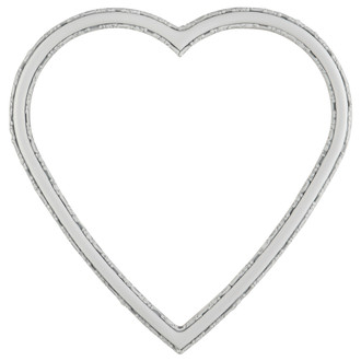 Virginia Heart Frame #553 - Linen White