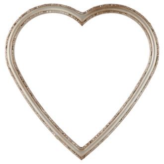 Virginia Heart Frame #553 - Silver Shade