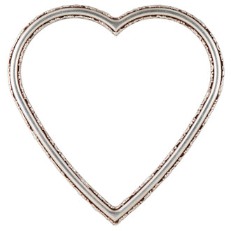 Virginia Heart Frame #553 - Silver Leaf with Brown Antique