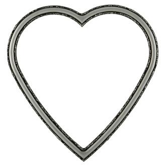 Virginia Heart Frame #553 - Silver Spray