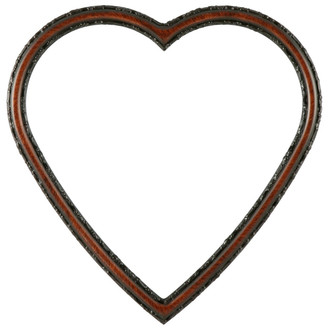 Virginia Heart Frame #553 - Vintage Walnut
