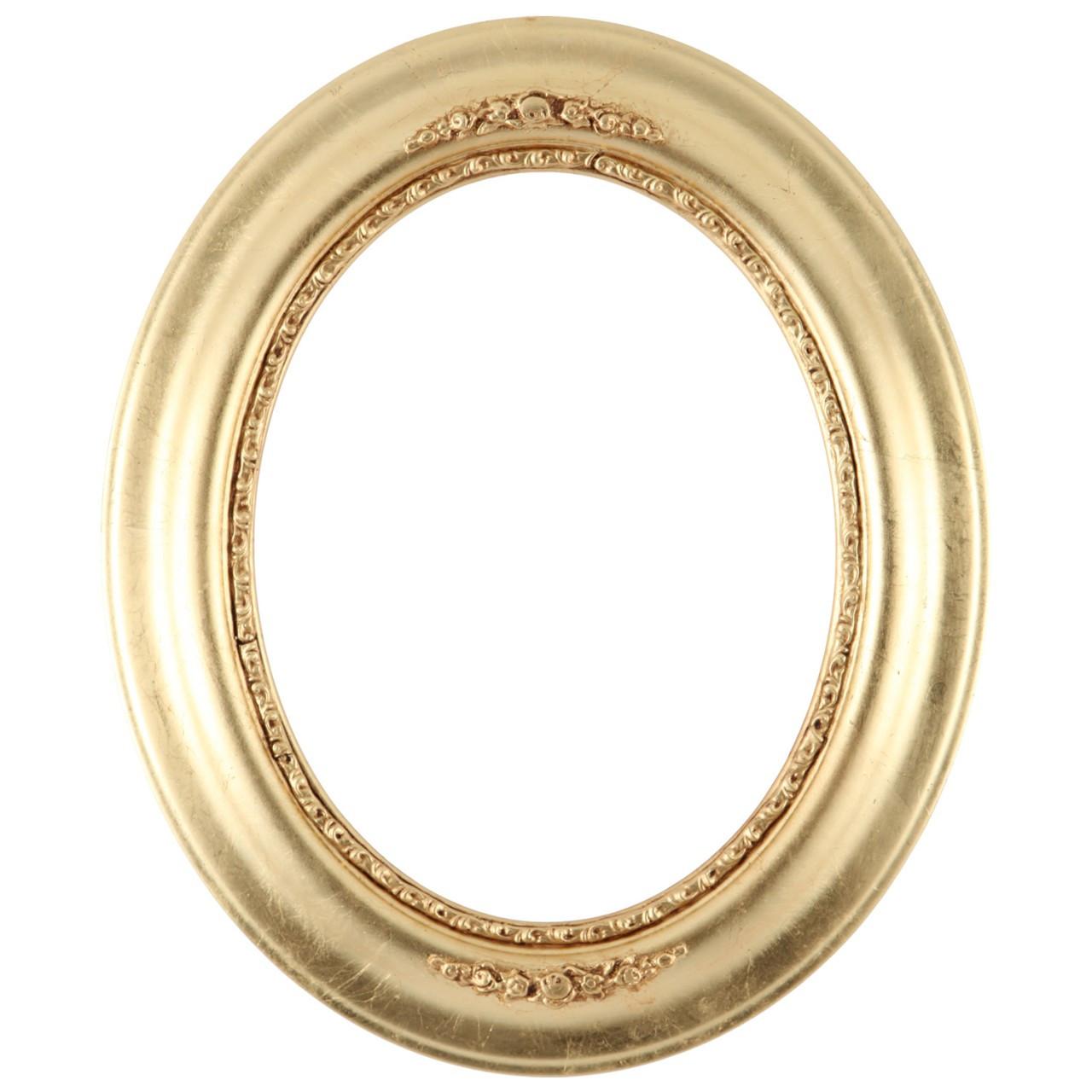 Oval Frame In Gold Leaf Finish Antique Gold Wooden Picture Frames