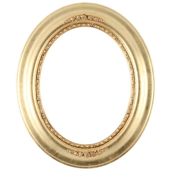 Oval Frame in Gold Leaf Finish| Antique Gold Wooden Picture Frames