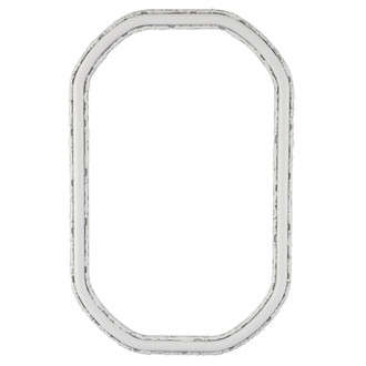 Virginia Octagon Frame #553 - Linen White