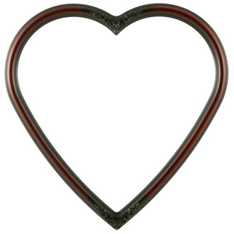 Contessa Heart Frame #554 - Rosewood