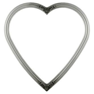 Contessa Heart Frame #554 - Silver Spray
