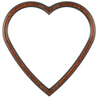 Contessa Heart Frame #554 - Vintage Walnut