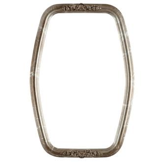 Contessa Hexagon Frame #554 - Champagne Silver