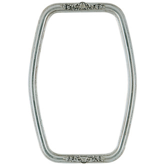 Contessa Hexagon Frame #554 - Silver Leaf with Brown Antique