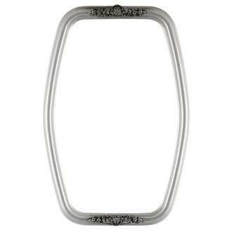 Contessa Hexagon Frame #554 - Silver Spray